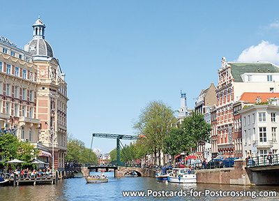 Postcard Canals of Amsterdam with Aluminum bridge