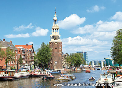 Postcard Amsterdam Canals of Amsterdam
