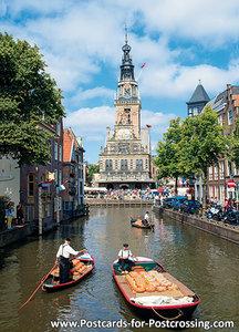 PostcardCheese market with Waag building- Alkmaar