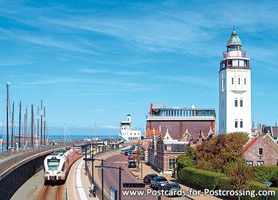 Postcard lighthouse Harlingen