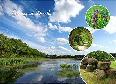 Postcard greetings from Drenthe