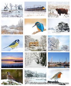 Winter postcardset