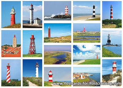 Lighthouse postcard set