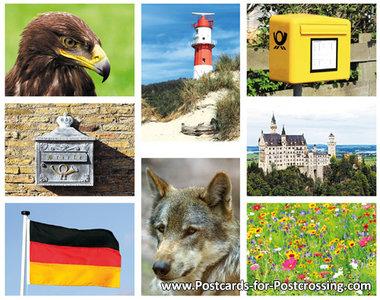 Postcard set Germany