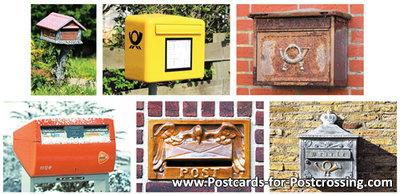 Mailbox postcard set