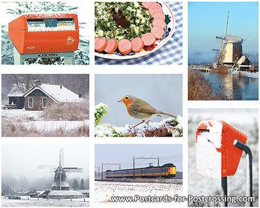 Postcard set winter Dutch