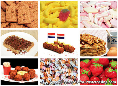 Food and candy postcard set