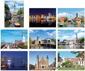 Postcard set cities