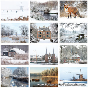Postcard set winter