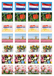 Holland sticker sheet