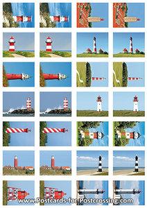 Lighthouse sticker sheet