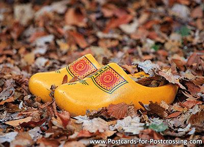 Autumn postcard - clogs