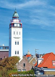 Harlingen lighthouse postcard