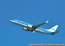 Airplane postcard KLM - Boeing 737-800