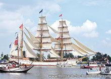 Postcard ship Europa on Sail Amsterdam