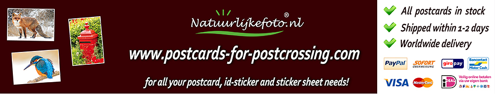 Postcards for Postcrossing webshop