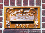 Ansichtkaart brievenbus Post, postcard mailbox Post, postkarte Post briefkasten