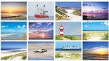 kaarten set strand en zee - Postcard set beach and sea - Postkarten Set Strand und Meer
