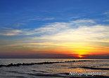 Ansichtkaart zonsondergang Noordzee, postcard sunset North sea, Postkarte Sonnenuntergang Nordsee