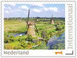 Postzegels Postcrossing - Molens van Kinderdijk