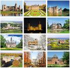 Kastelen kaartenset - postcardset castles - Schlosser und Burgen Postkarten Set
