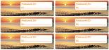 Postcard ID sticker - Waddenzee