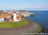 ansichtkaartvuurtoren Urk, postcard lighthouse Urk, postkarte leuchtturm Urk