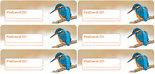 Postcard ID sticker - ijsvogel