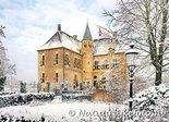ansichtkaart kasteel Vorden in de winter, postcard castle Vorden in winter, Postkarte Schloss Vorden im Winter