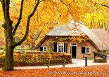 Herfstkaarten, Watermolen herfst Kleine boerderij, postcard Autumn Small farm, postkarte Herbst kleine Farm