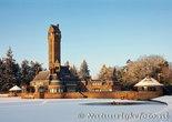 ansichtkaart winter Jachthuis St. Hubertus, postcardwinter Hunting Lodge St. Hubertus, Postkarte winter Landhaus