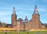 ansichtkaart kasteel Hoensbroek, postcardcastle Hoensbroek, Postkarte Schloss Hoensbroek
