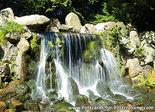 ansichtkaart waterval in park Sonsbeek in Arnhem, waterfall postcard, PostkarteWasserfall