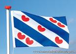 ansichtkaart Friese vlag