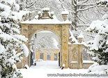 goedkope kerstkaarten kopen, ansichtkaart winter borg Nienoord, postcardwinter Nienoord, Postkarte winter Nienoord