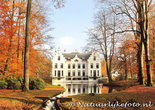 Herfstkaarten, ansichtkaart kasteel Staverden in herfst, postcard castle Staverden in autumn, postkarte Schloss Staverden in He