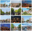 Kaartenset Amsterdam - postcard set Amsterdam, Postkarten set Amsterdam