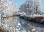 ansichtkaart winter Ouddiep / Koningdiep Beetsterzwaag, postcard winter landscape, Postkarte winter landschaft