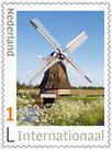 Postzegels internationaal - molen