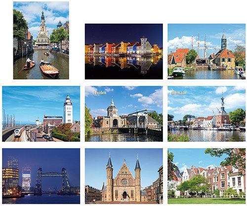 Postcardset cities
