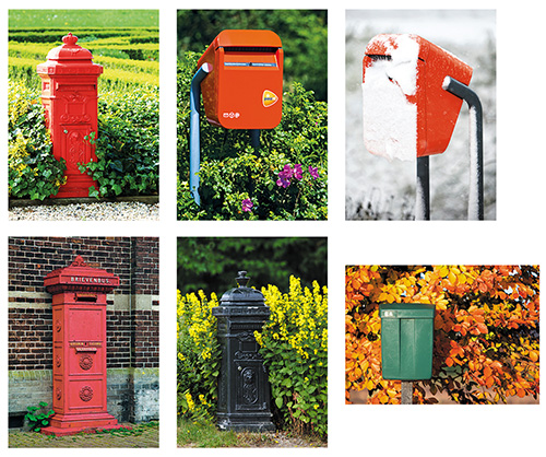 postcard set mailboxes