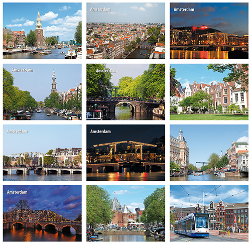 Postcard set Amsterdam