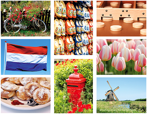Typical Dutch postcardset