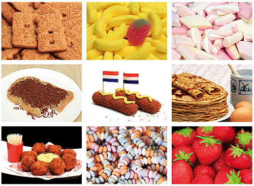 Food and candy postcardset