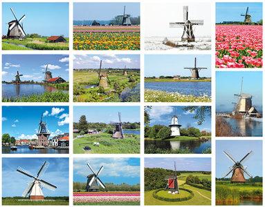 Molen kaartenset - Windmill postcard set - Mühlen Postkarten Set