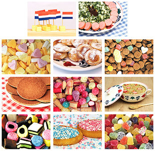 Kaarten set eten en snoep, postcard set food and candy, Postkarten Set Essen und Süßigkeiten