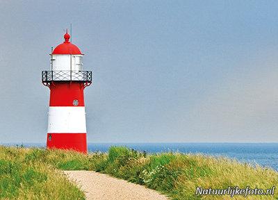 ansichtkaartvuurtoren Westkapelle - postcard lighthouse Westkapelle - postkarte leuchtturm Westkapelle