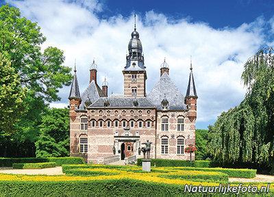ansichtkaart kasteel Wijchen, postcardcastle Wijchen, Postkarte Schloss Wijchen