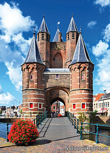 AnsichtkaartAmsterdamse poort in Haarlem, postcard Amsterdamse poort in Haarlem, Postkarte Amsterdamse poort in Haarlem
