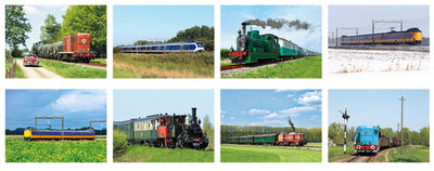 train postcard set